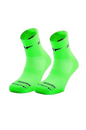 SUNKAA Hombre Calcetines Emana Calcetines Running, Todo el año, Hombre, Color Verde -