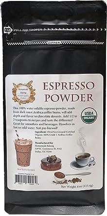 Amazon Com Organic Espresso Powder From 100 Grade 1 Arabica