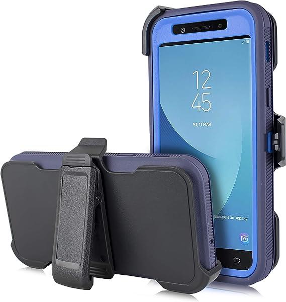 Coque de protection robuste avec protection d'écran intégrée pour Samsung Galaxy J3 Star 2018, Achieve, J3V 3ème génération, Express Prime 3, Amp ...