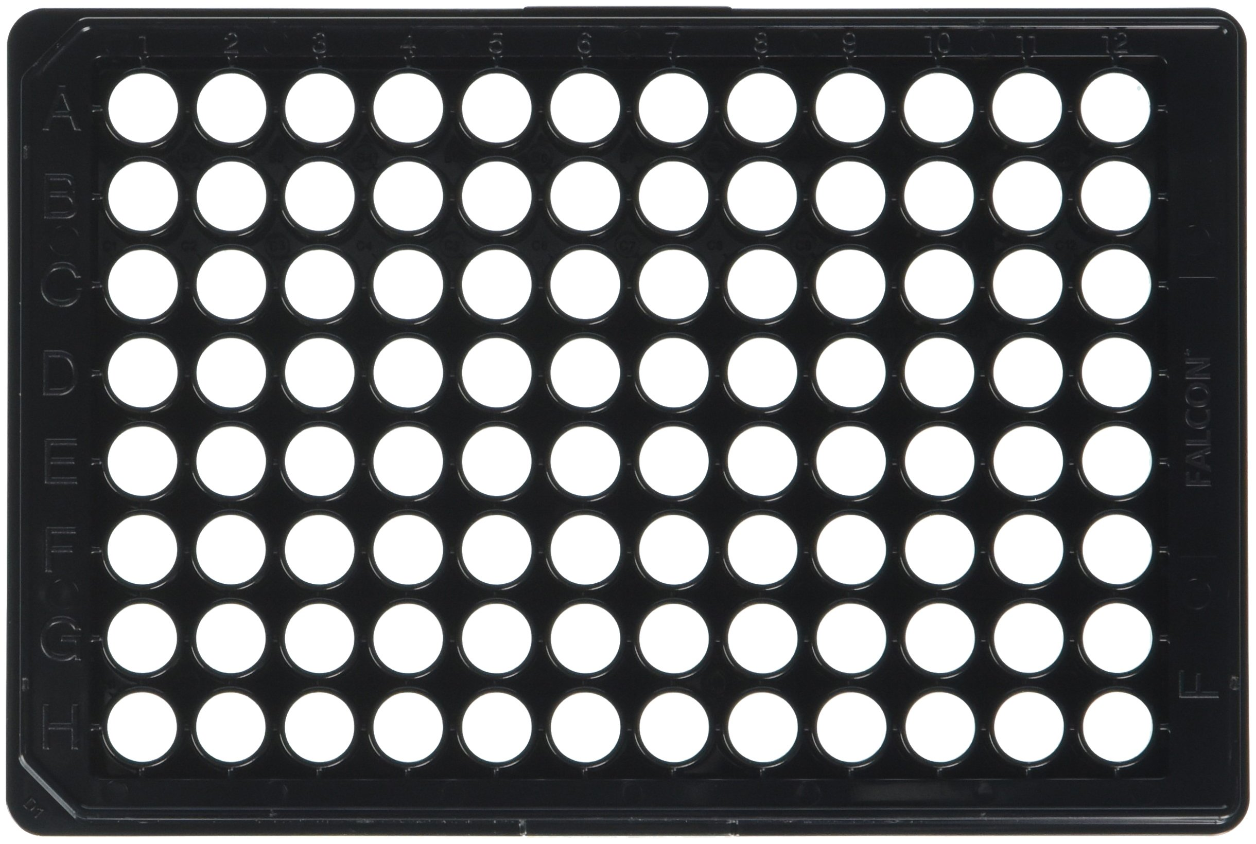 BD 353219 Falcon Black/Clear Sterile 96 Well Imaging Plate with Lid (Case of 32) by BD