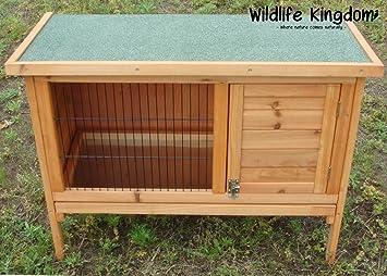 Cobertizo de madera para conejo, con techo de apertura y bandeja extraíble, de Wildlife
