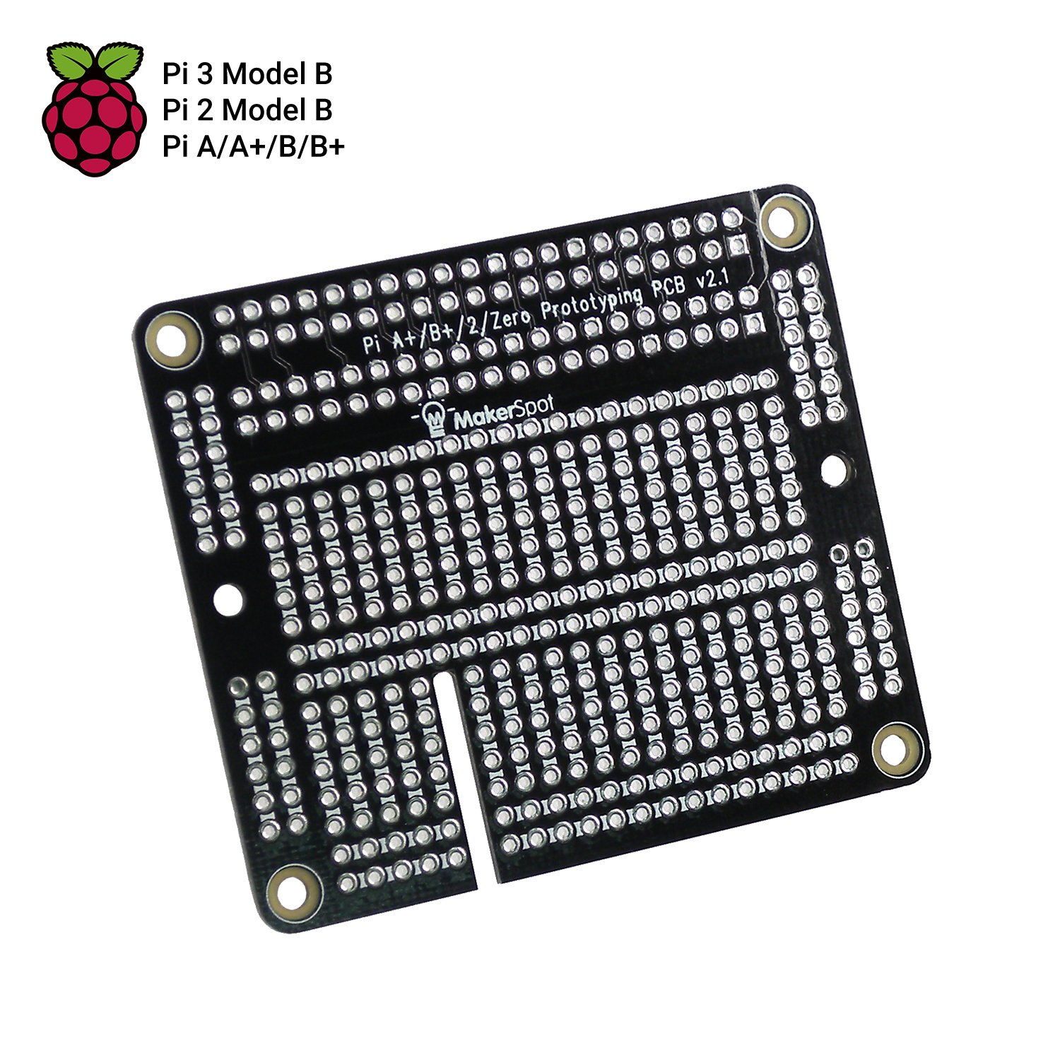 Raspberry Pi 3 Prototyping Board Proto Breadboard Hat By Circuit Soldered On A General Purpose Makerspot With Female Pin Connector Pcb For 2 B 1