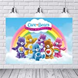 Birthday Party Banner Customize Name Sign Care Bear 10x32 Personalized Name Poster with Border Mat