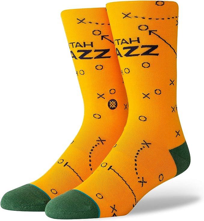Utah Jazz Block Crew Socks Size Large
