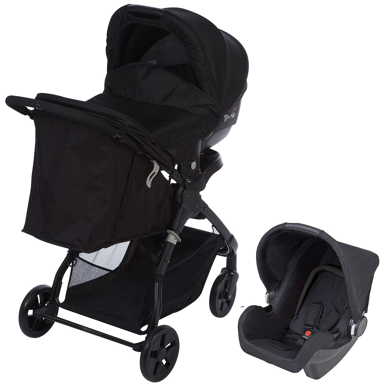 Safety 1st Trío Amble - Silla de paseo con capazo y portabebés, color full black
