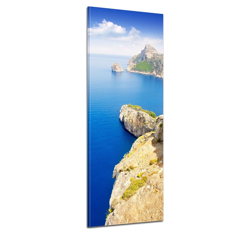 Kunstdruck - Cap Formentor - Mallorca - Bild auf Leinwand - 50x160 cm - Leinwandbilder - Landschaften - Spanien - Kap - Steilküste