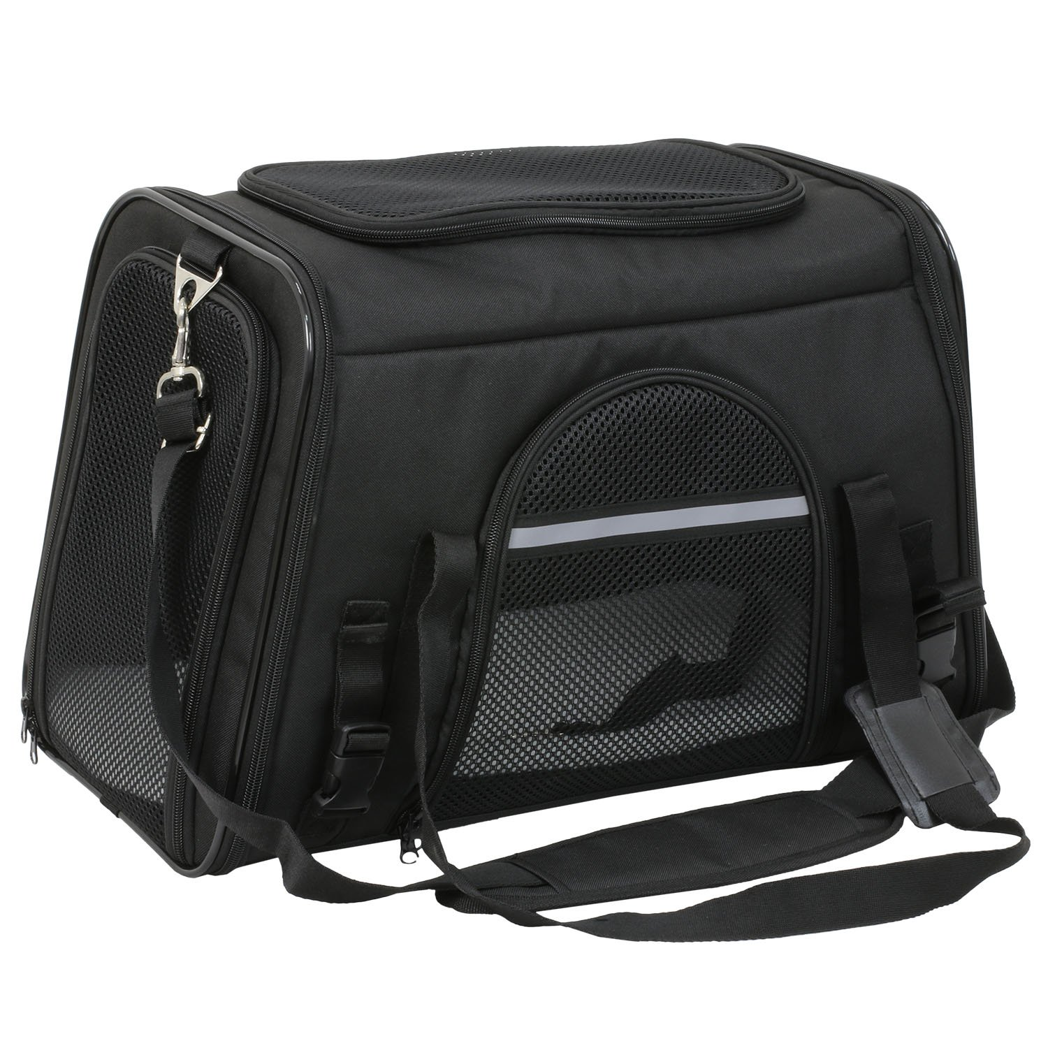 X-ZONE PET Airline Approved Pet Carriers,Comes with Fleece Pads Soft Sided Pet Carrier for Dog & Cat (Small, Carbon Black)