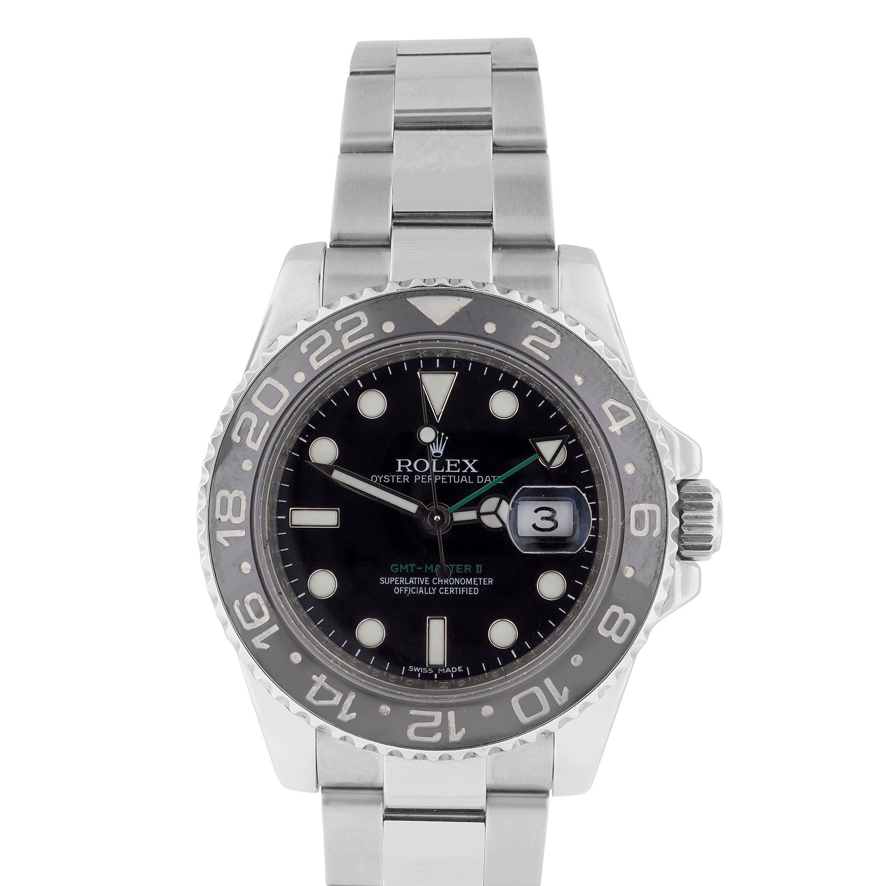 Rolex GMT Master II swiss-automatic black mens Watch 116710LN (Certified Pre-owned)