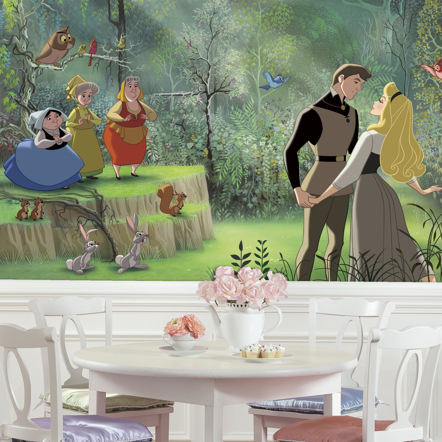 Wall Decals JL1379M RoomMates Disney Princess Sleeping Beauty Prepasted 6 X 10.5 Removable Wall Mural 6/' X 10.5/' York Wallcoverings Removable Wall Mural