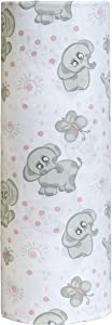 Cuddles & Cribs Organic Cotton Fitted Crib Sheet Set (Elephants, 1 Pack)