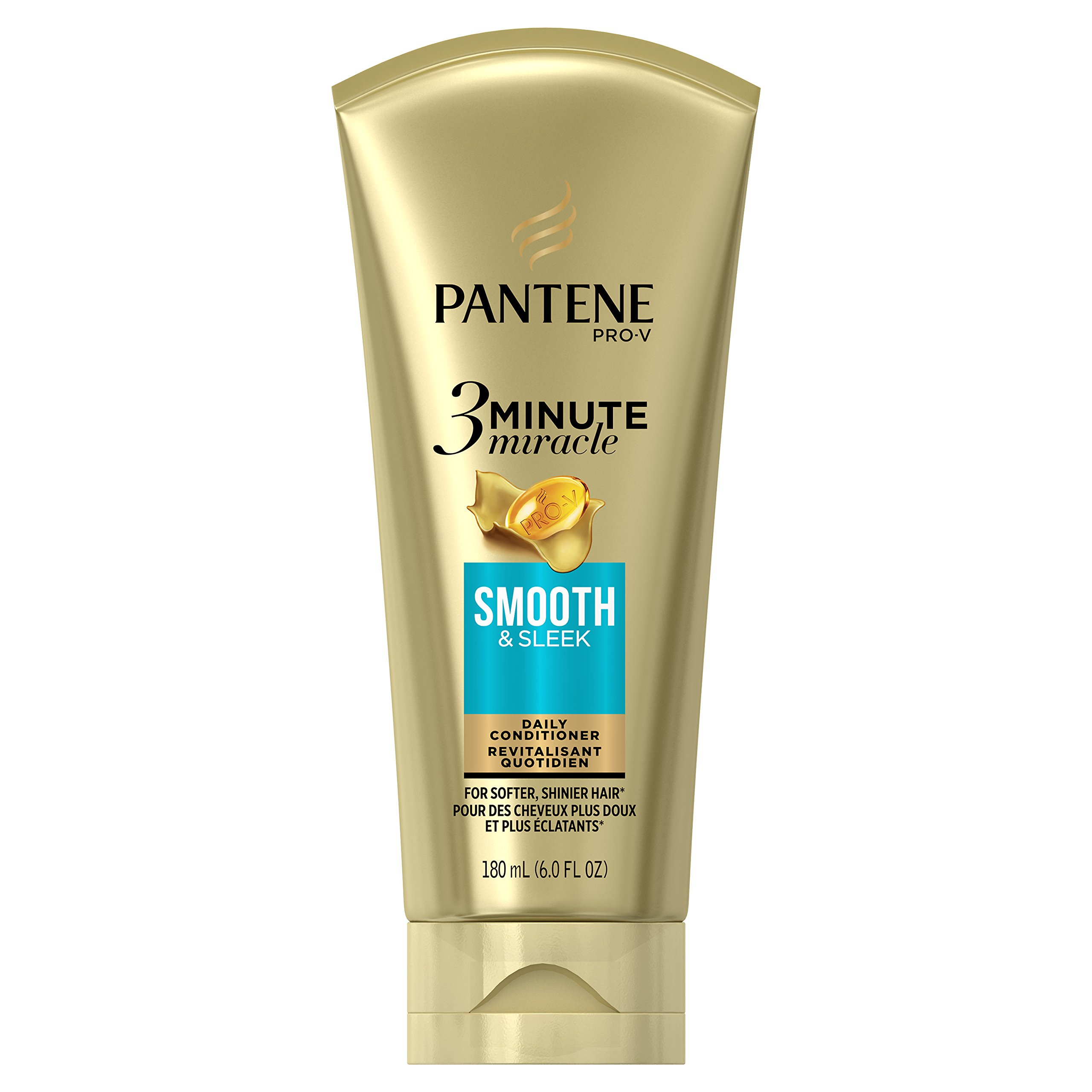 Pantene Smooth and Sleek 3 Minute Miracle Deep Conditioner, 6 Fluid Ounce,Packaging May Vary