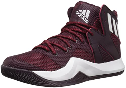 buy popular 77378 29251 Adidas Mens Crazy Bounce Basketball Shoes, MaroonWhiteUniversity Red,  (4.5