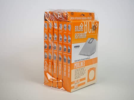 Sanfor 80536 Caja 24 cajas de 2 Bolsas aspirador MOULINEX R-MO14, Papel, MARRÓN: Amazon.es: Hogar