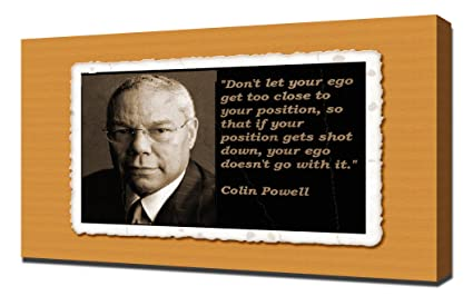 Colin Powell Quotes | Amazon Com Colin Powell Quotes 4 Canvas Art Print Posters Prints