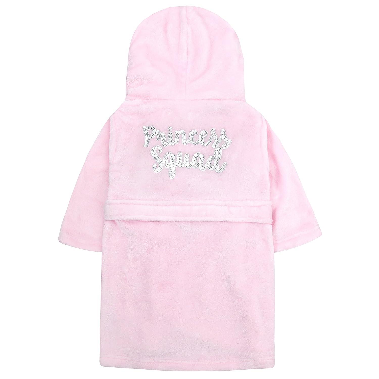 Minikidz Girls Sequin Princess Plush Fleece Dressing Gown