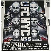 $184 » Khabib Nurmagomedov Jeremy Stephens Thiago Alves Signed 18x24 UFC 205 Poster BAS - Autographed UFC Event Poster