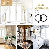 40Pcs Curtain Rings 1.5 inches Metal Curtain Eyelet Rings