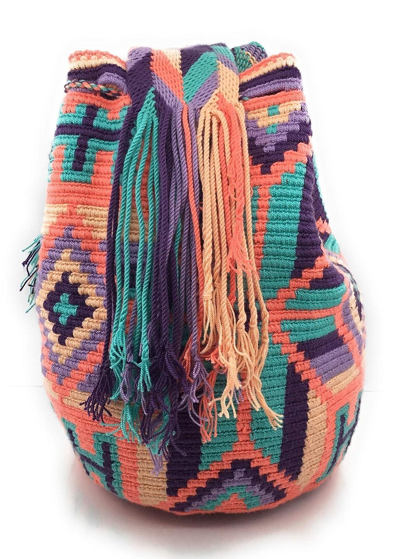 Mochila Wayuu, Bolsos Colombianos Artesanales con motivos tribales, tanto para mujer como para hombre. (SHAKIRA): Amazon.es: Zapatos y complementos
