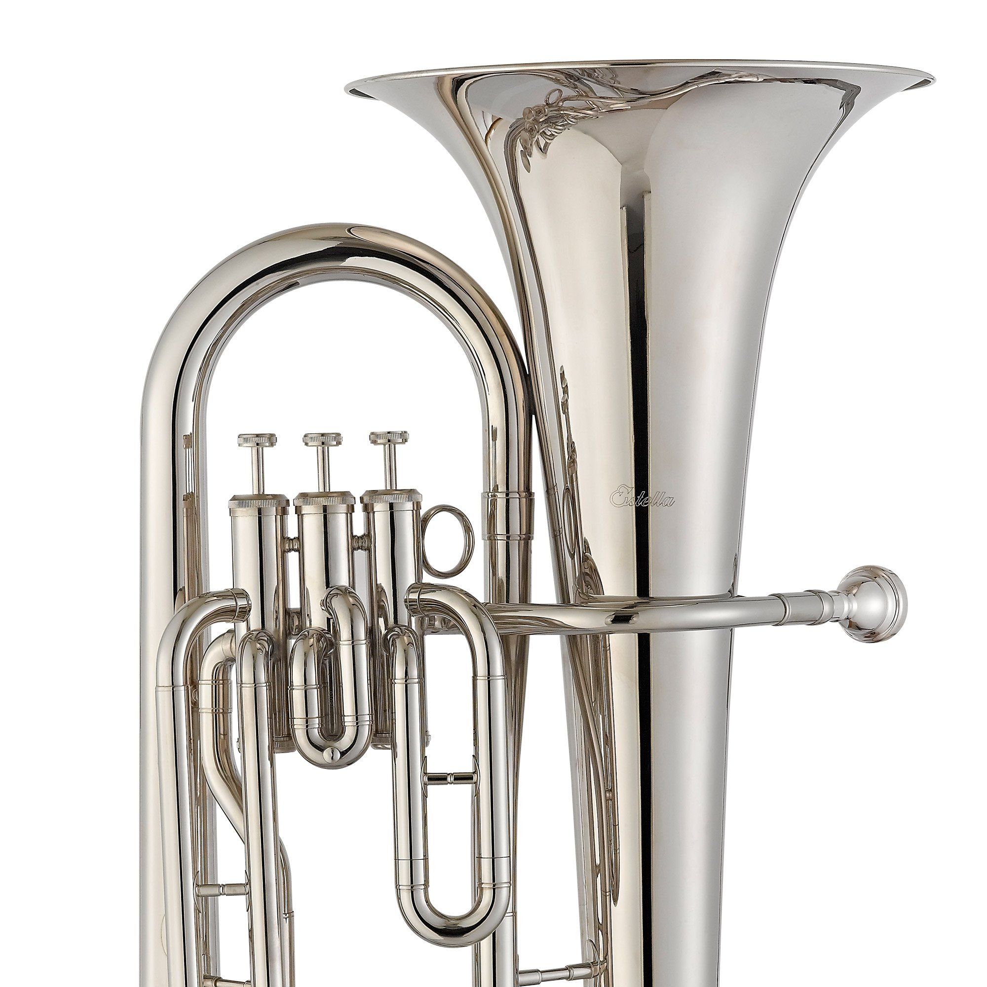 Estella EU200N Nickel Plated B Flat Euphonium with Stainless Steel Pistons by Estella (Image #4)