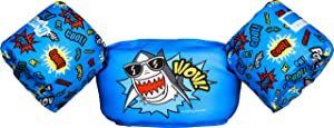 Dark Lightning Kids Life Vest,Floatie up to 50 Pounds, Toddler Swim Vest with Water Wings for Girls and Boys,Children Floatation Device for Puddle/Beach,Play Like Jumper