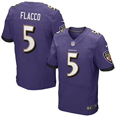 NIKE Joe Flacco Baltimore Ravens Purple Authentic Elite Stitched On-Field  Jersey - Men s 48 c43ef20e1