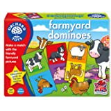 Orchard Toys Farmyard Dominoes Card Game (Multi-Colour)