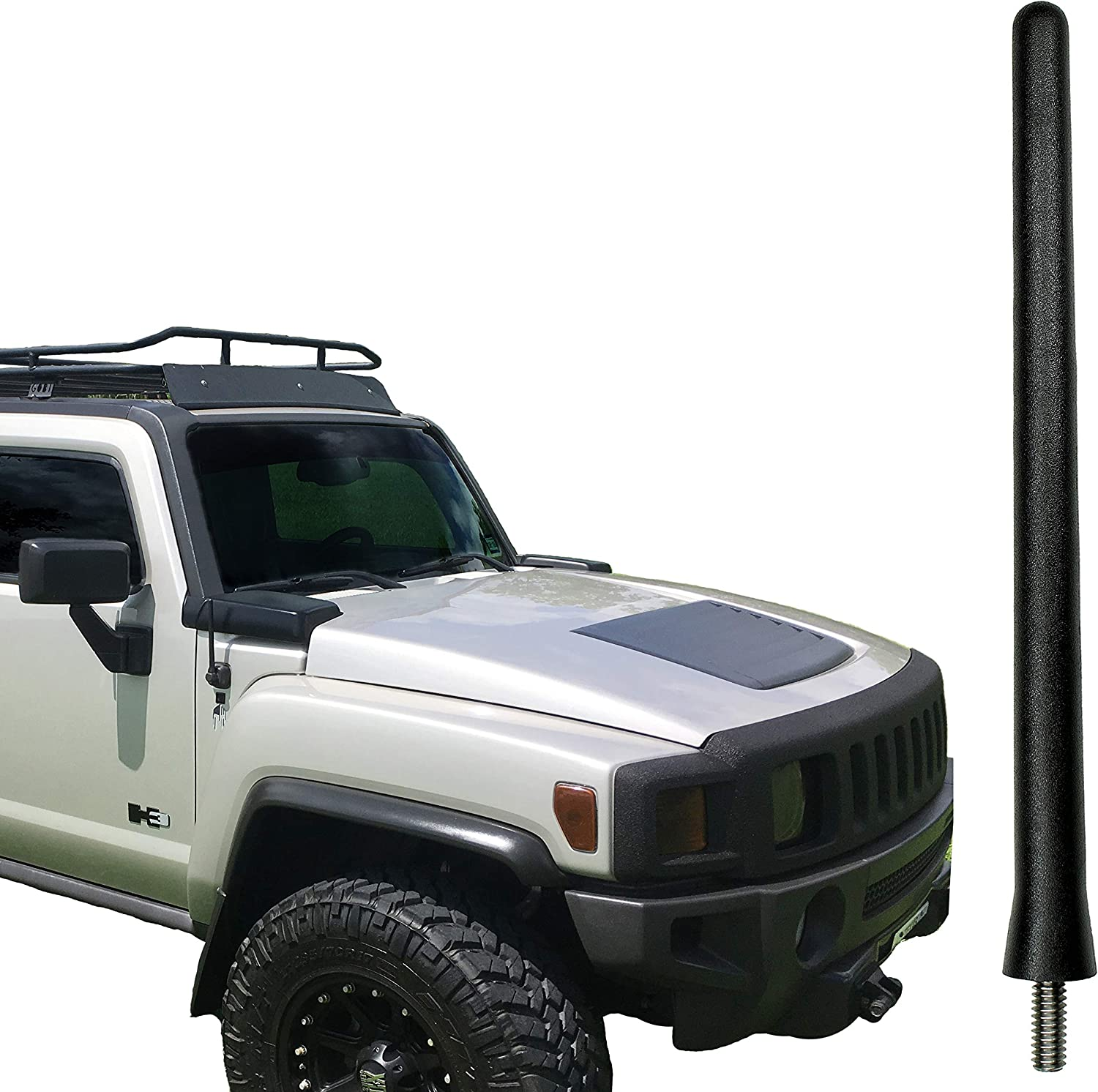 AntennaMastsRus 2003-2009 - Spring Steel Internal CORE 13 All-Terrain Flexible Rubber Antenna is Compatible with Kia Sorento