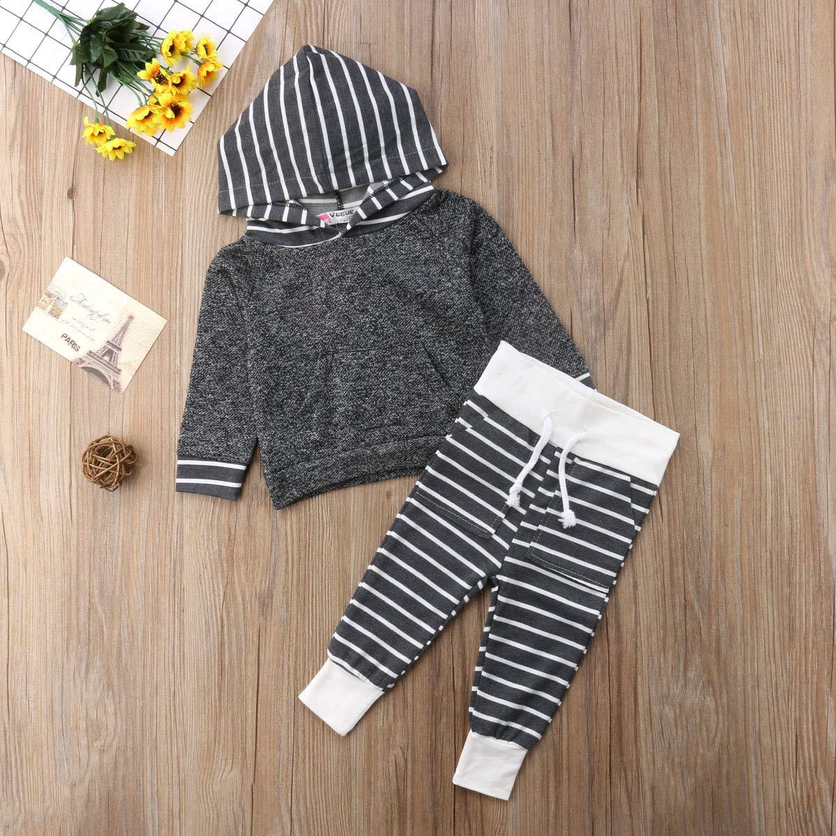 ca51fba4f70e ITFABS 2pcs Baby Boy Bodysuit Pants Set Black Romper Camouflage ...