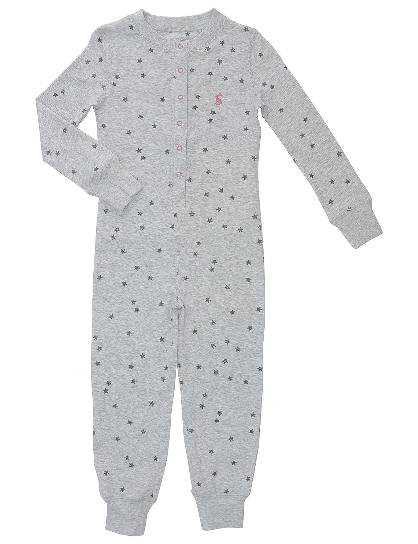 Joules Girls Printed Onesie - Grey Marl Star