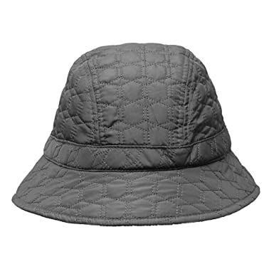 3776973fe9b Women s Gray Quilted Rain Hat with Fleece Lining at Amazon Women s ...