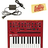 Korg Monologue Monophonic Analog Synthesizer - Red Bundle with Power Supply and Austin Bazaar Polishing Cloth