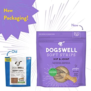 Dogswell 100% Meaty Soft Treats for Dogs, Made in the USA with Glucosamine, Chondroitin & New Zealand Green Mussel for Healthy Hips