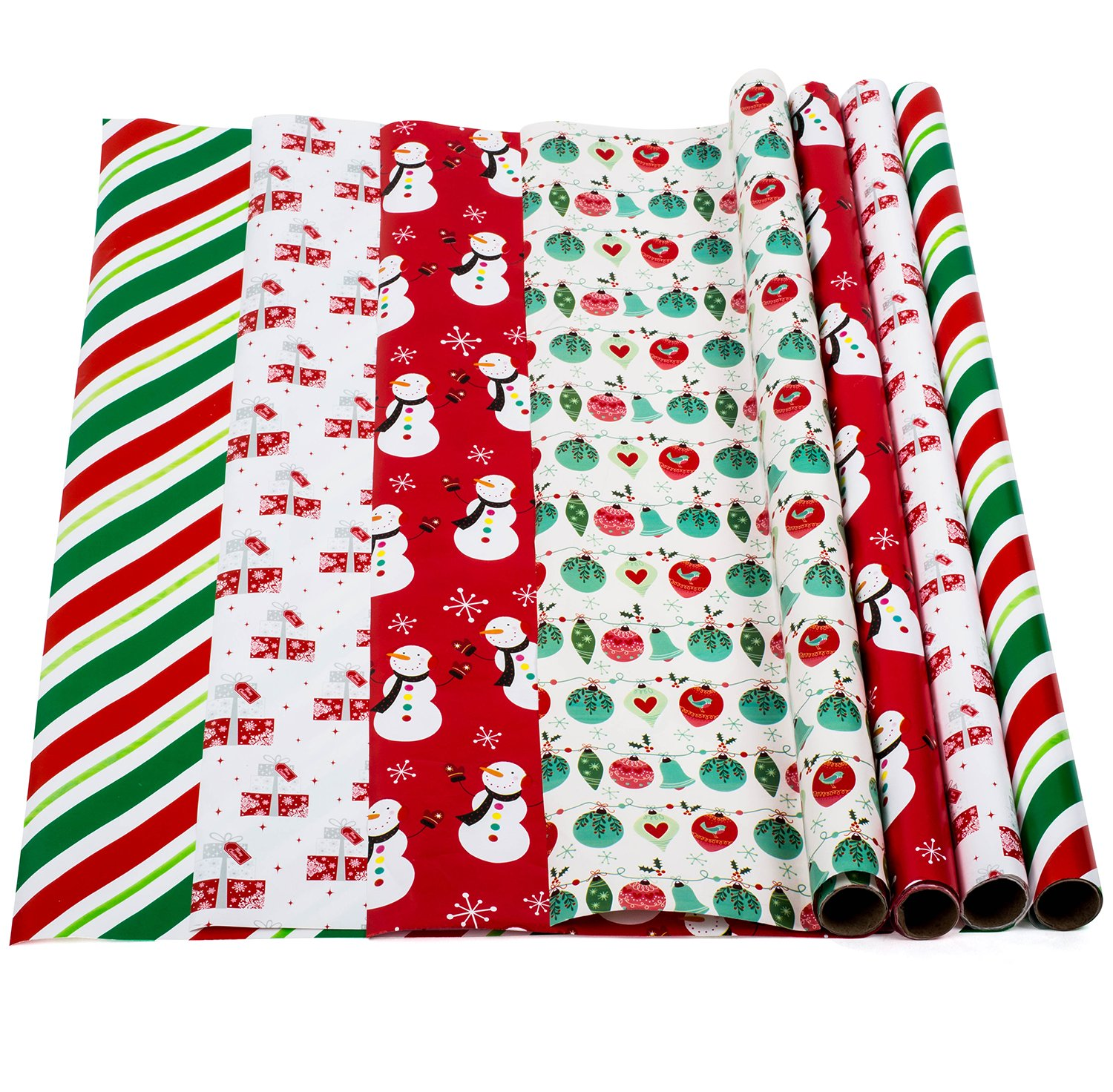 Amazon.com: Christmas Wrapping Paper - Holiday Gift Wrap - Premium ...