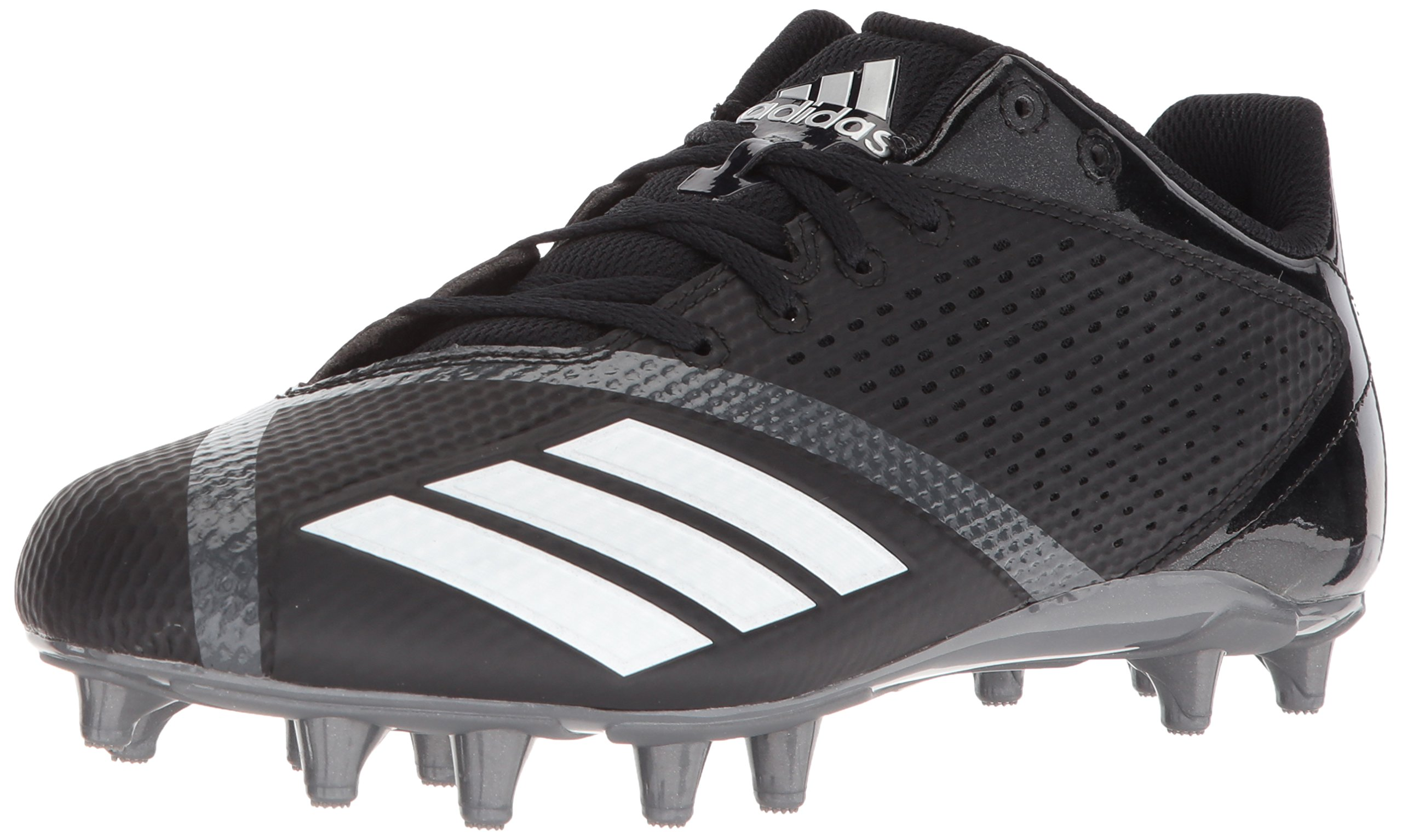 adidas Men's 5.5 Star Football Shoe, Black/White/Night Metallic, 10 M US