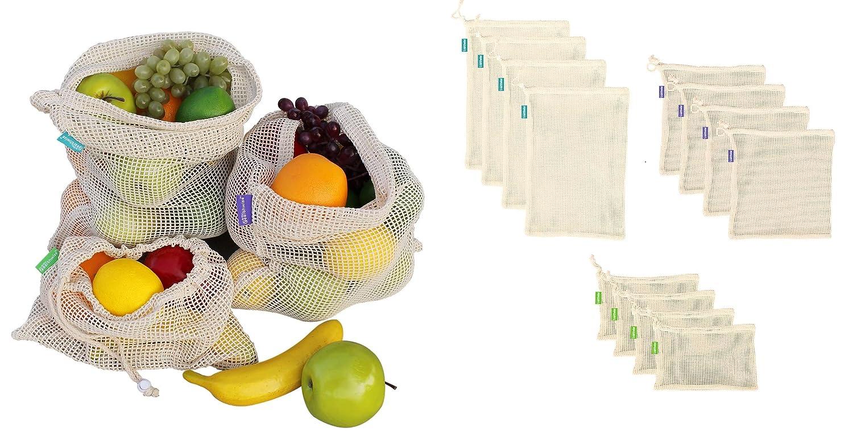 Earthwise - Bolsas de malla reutilizables 100% algodón ...