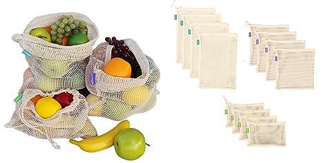 Amazon.com: Earthwise - Bolsas de algodón reutilizables 100 ...