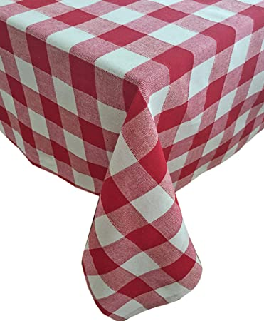 Amazon.com: Red Buffalo Check 100% Cotton Weave Indoor/Outdoor ...