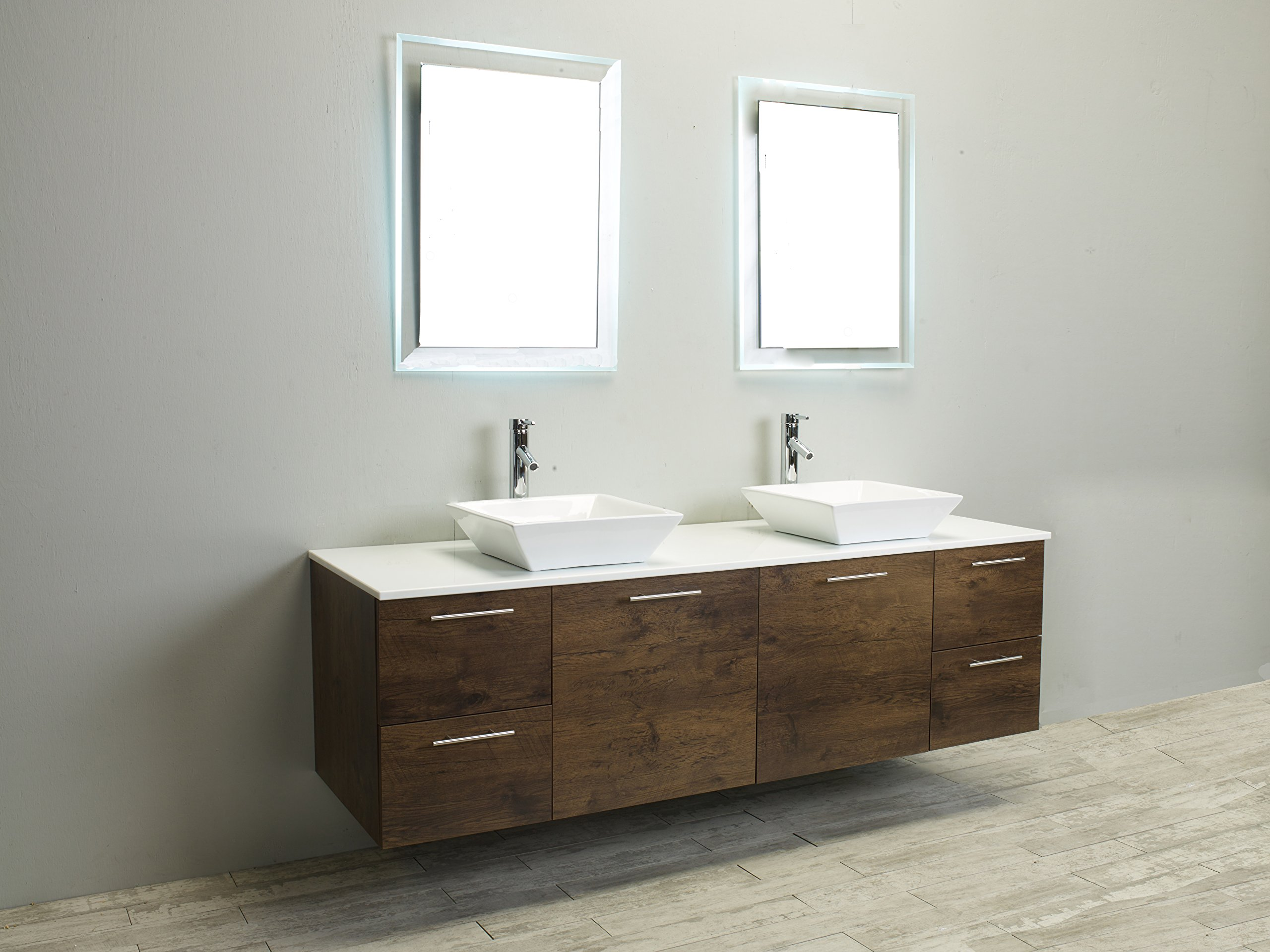 Eviva Luxury 72-inch Rosewood bathroom cabinet only by Eviva (Image #3)