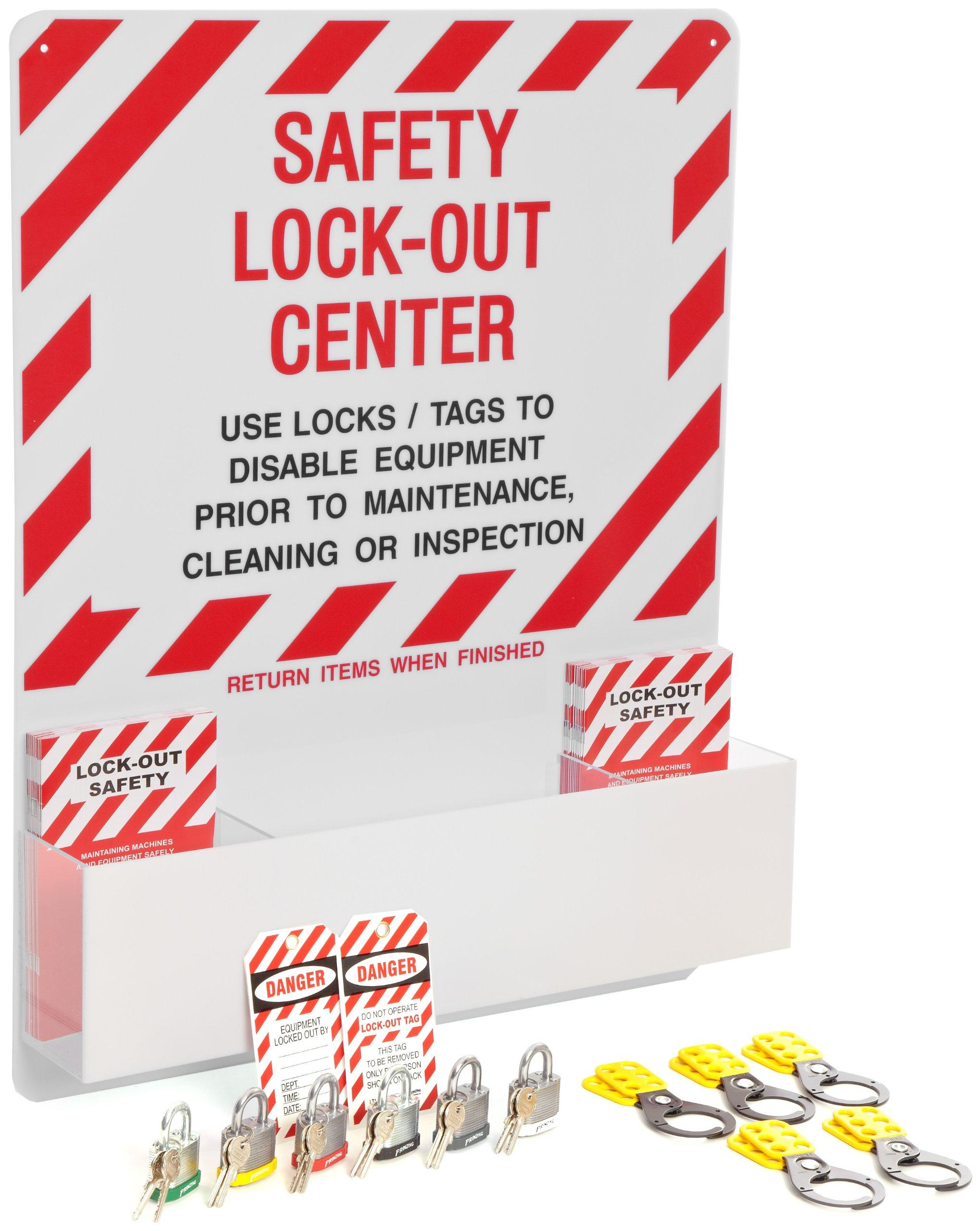 Brady Prinzing Lockout Center, Includes booklets, tags, locks, hasps