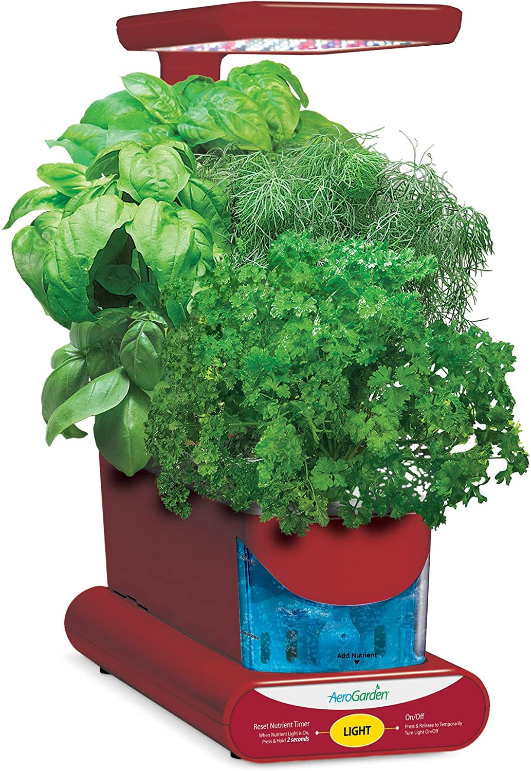 AeroGarden-Sprout-LED-with-Gourmet-Herb-Seed-Pod-Kit-Red