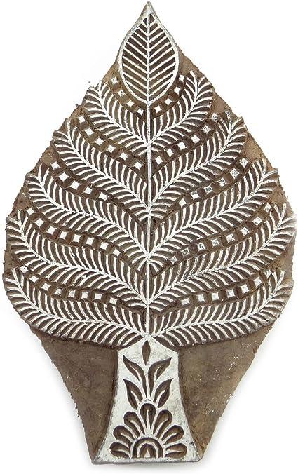 Sellos de la India de molde de madera del arte del árbol ...