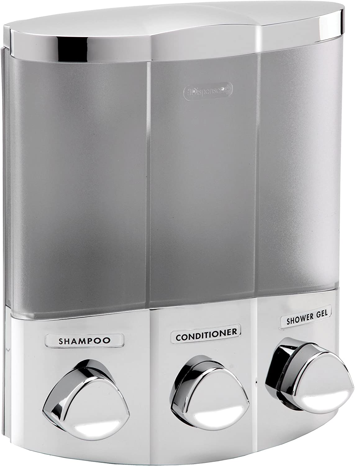 Better Living Products 76354 Euro Series TRIO 3-Chamber Soap And Shower Dispense