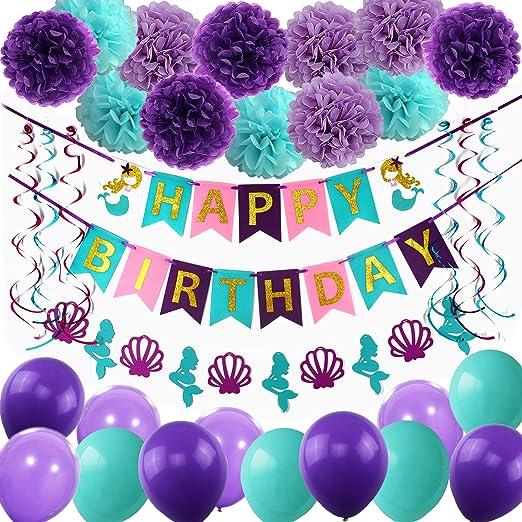 Amazon.com: THAWAY - Decoración de cumpleaños, pancartas de ...