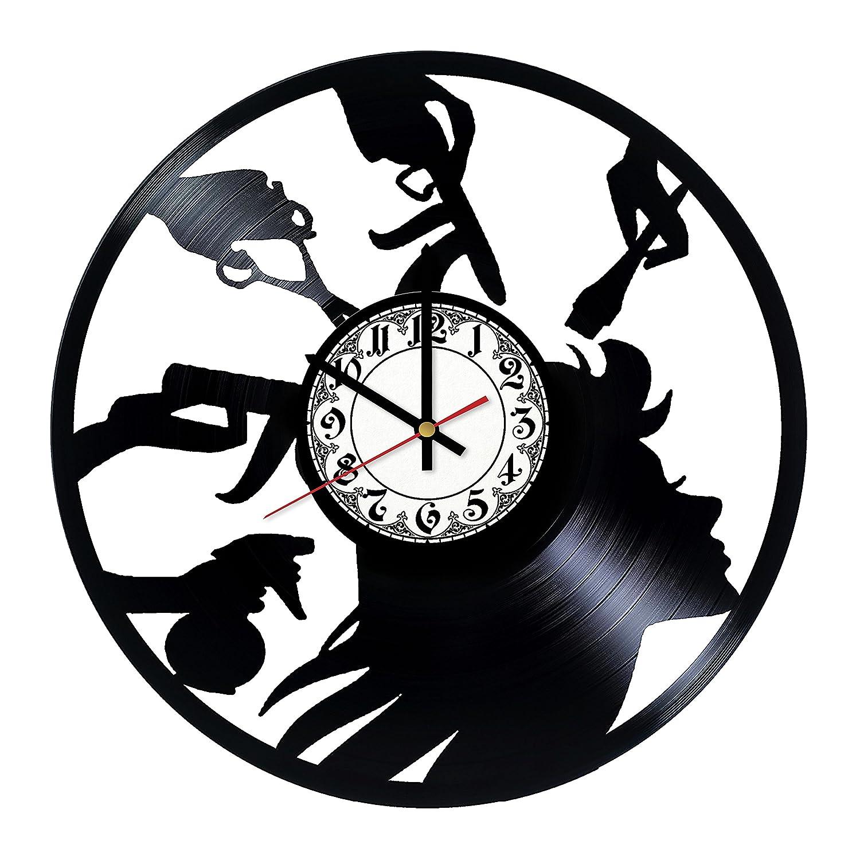 Get Unique Room Wall Decor Shark Handmade Vinyl Record Wall Clock Gift Ideas For His And Her Modern Unique Home Art Design Home Decor Clocks