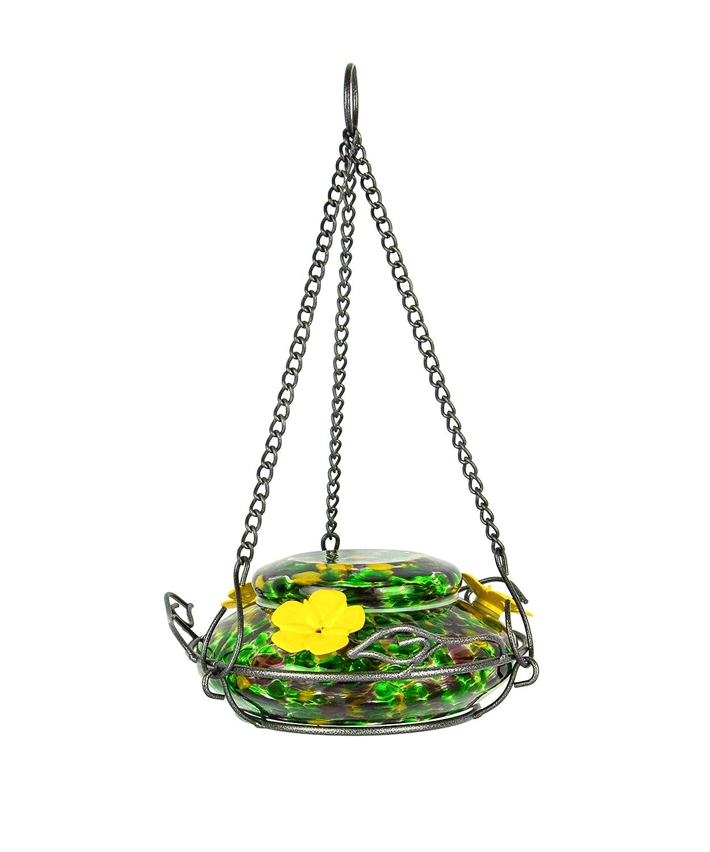 Nature's Way Bird Products GHF5 Garden Top Fill Hummingbird Feeder, 18 Ounce Capacity, Molten