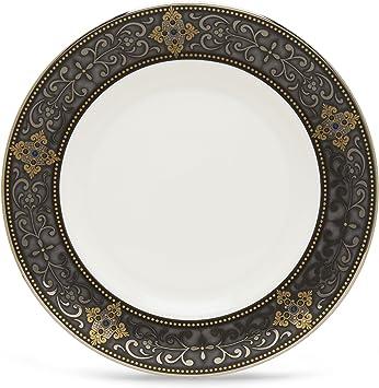 Lenox Vintage Jewel Platinum Banded Bone China Salad Plate Dethistalanis