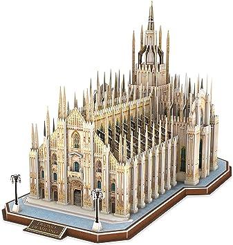 CubicFun Puzzles 3D Italia Duomo di Milano Arquitecturas Kits de construcción de Modelos Catedral entrelazada Regalo de Recuerdo para Adultos y niños, 251 Piezas: Amazon.es: Juguetes y juegos
