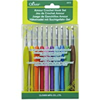 Clover 3672 Amour Crochet Hook Set, Size 10