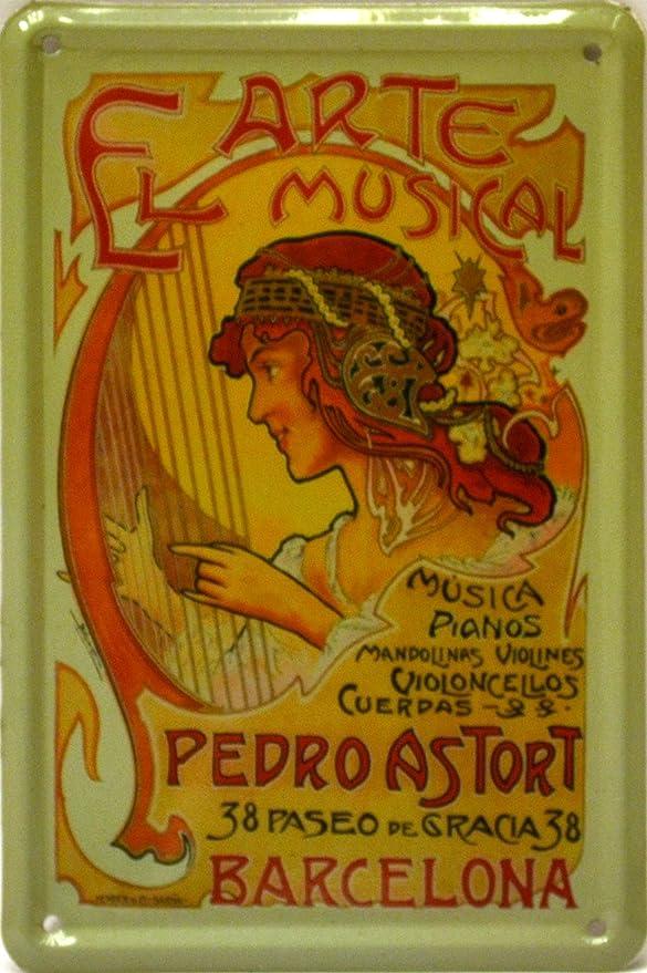 Imán Cartel Poster publicitario de Chapa metálica con diseño ...