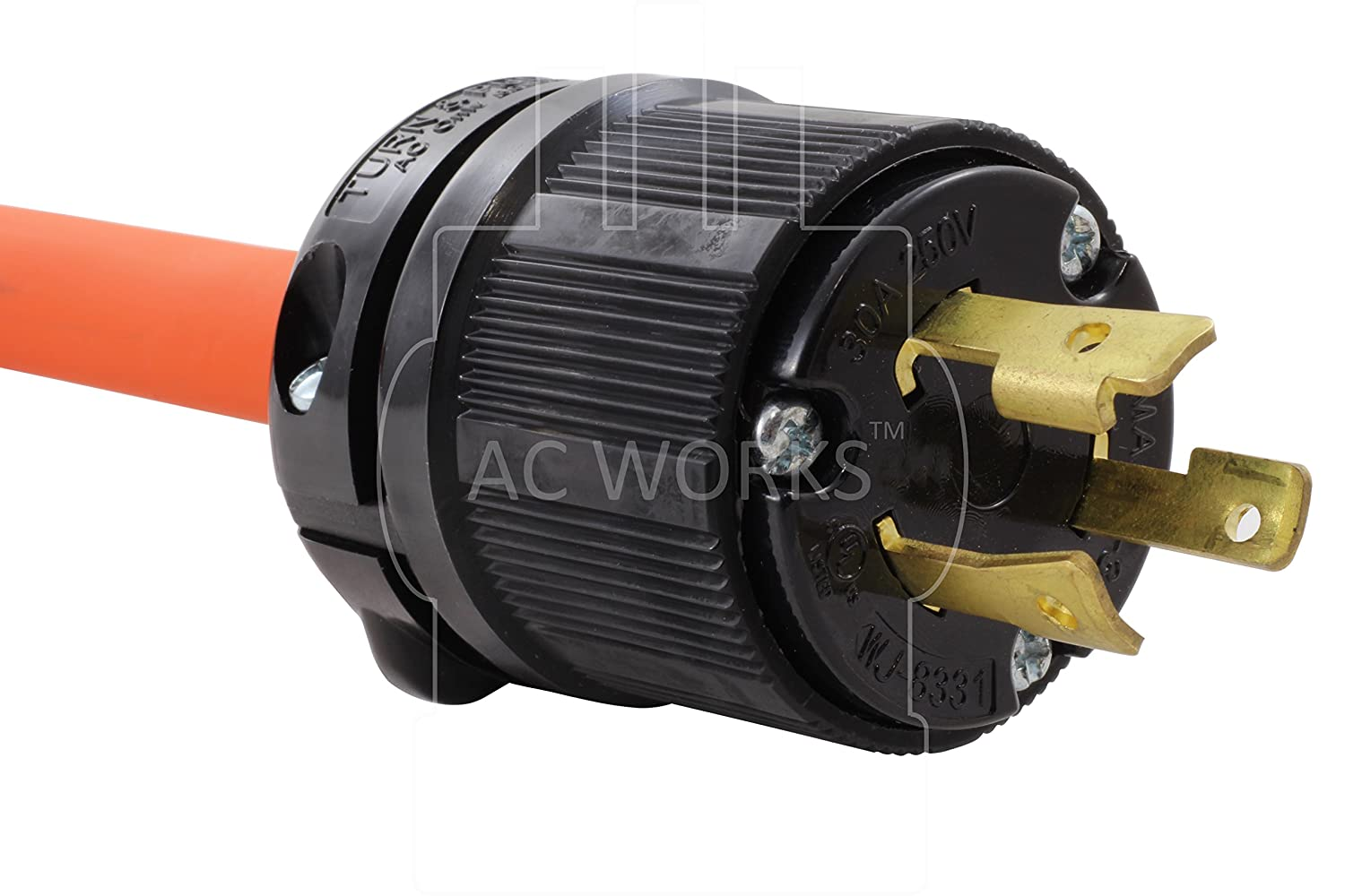 Ac Works 6 50 Welder Adapter L6 30 30a 250v 3 Prong Locking To Details Of Nema L1430p 615 20r Plug 1 Foot 20a